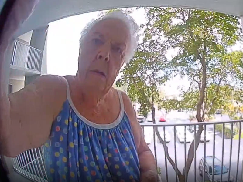 Condo Commando Tries To Steal Ring Doorbell Camera