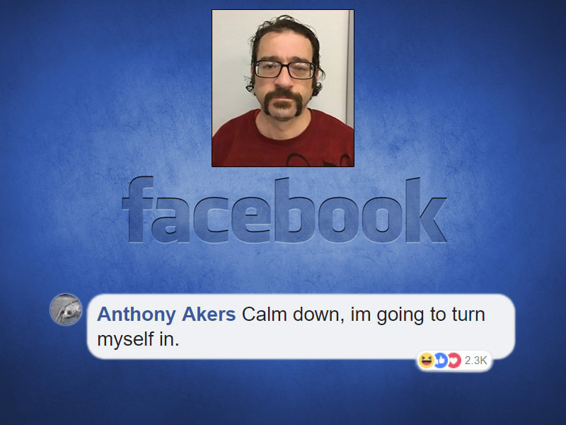 The Richland Police department posted a photo of Akers asking for tips on his whereabouts. He answered!