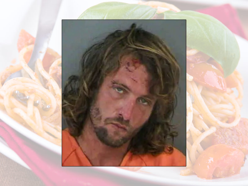 Drunk Man Arrested For Shoveling Spaghetti Into His Mouth At An Olive Garden