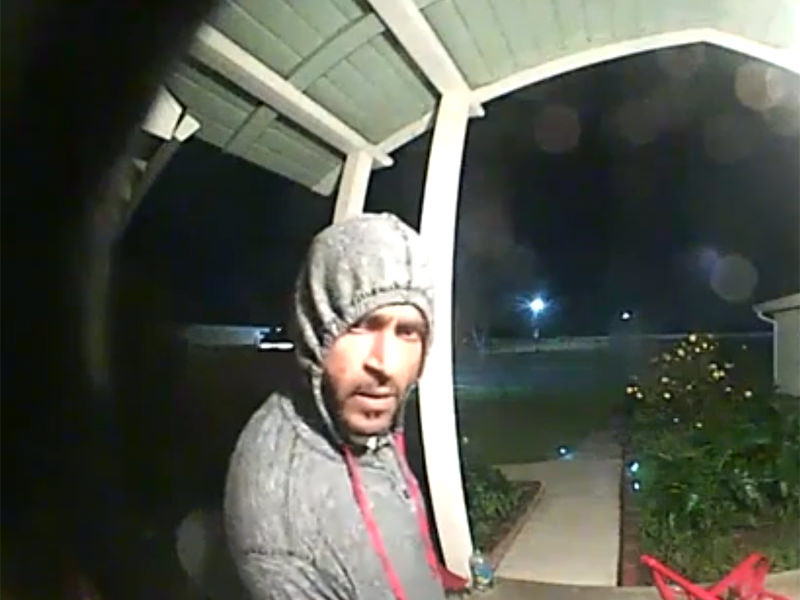 A South Sacramento homeowner's Ring doorbell camera captured the moment a man walked up to her home and pried at the device.