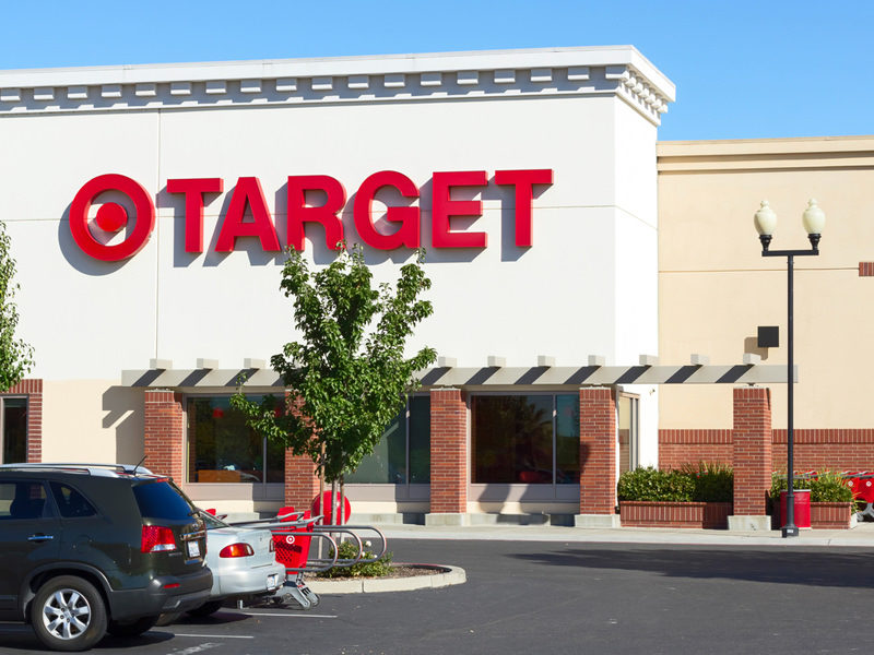 An alleged shoplifter in California took her time enjoying the fruits of her crime at Target.