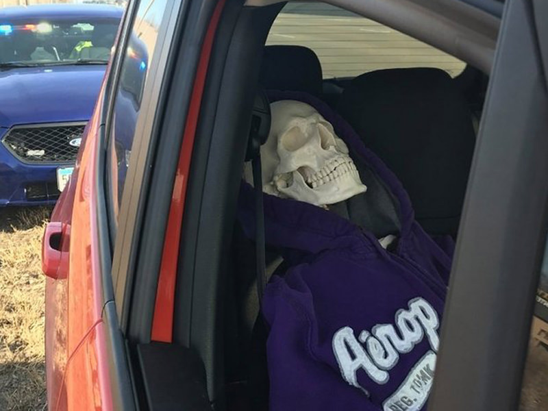 Man Used Skeleton To Get On Highway Carpool Lane