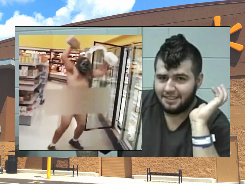 Naked Man Screaming 'I'm on Fire' Streaks Into Walmart To Shower In Milk
