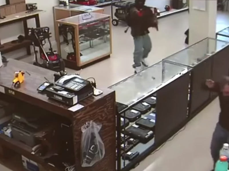 Two Not So Smart Men Try To Rob A Gun Store